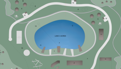 Map graphic of Outdoor Learning Center